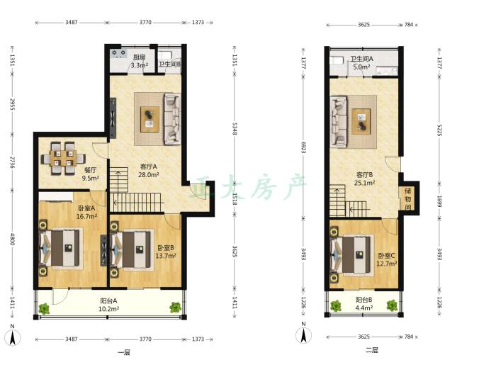 燕港新村 3室3厅 350.00万