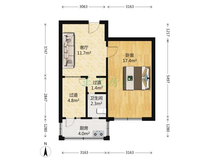 石泵宿舍小区 1室1厅 80.00万