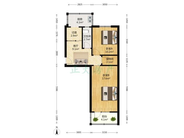 建明小区 2室1厅 110.00万