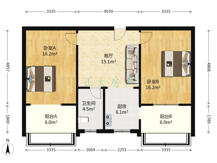 雅馨苑 2室1厅 125.00万
