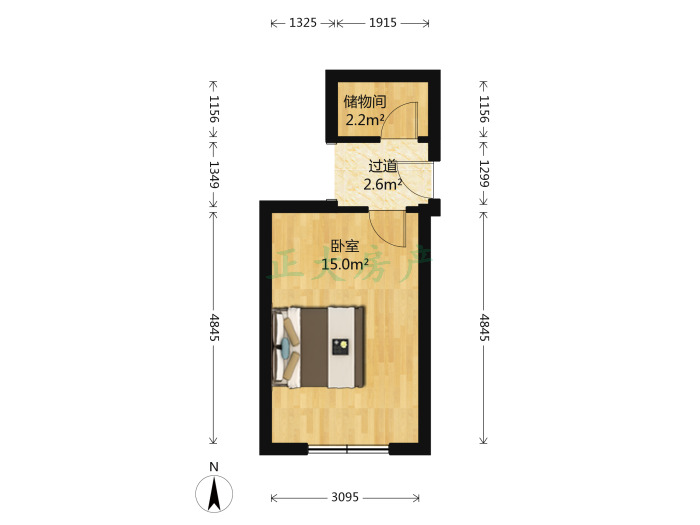 支农路59号院 1室0厅 700.00元