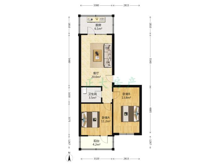 清沁园 2室1厅 139.00万