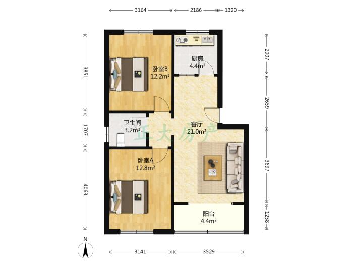 卓达小区别墅群 2室1厅 130.00万