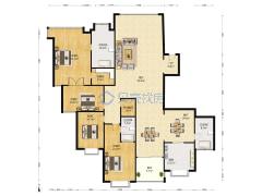 棕榈泉国际公寓 4室2厅 4000万户型图