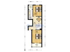 安翔里小区低楼层南北两居室  满五年家庭名下唯一住房户型图