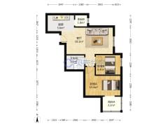 住欣家园东南小两居室 总价合适 配套齐全户型图